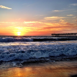 Sunset in October at Hermosa Beach