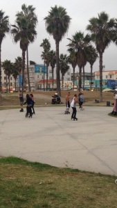 A rollerskating dance party at Venice Beach