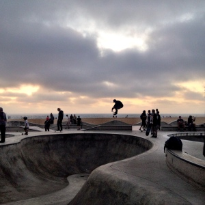 Skateboarders at Venice Beach